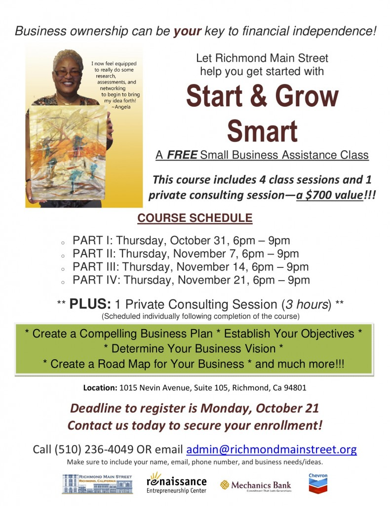 Vaneese Johnson Teaches Start & Grow Smart - Nov 2013