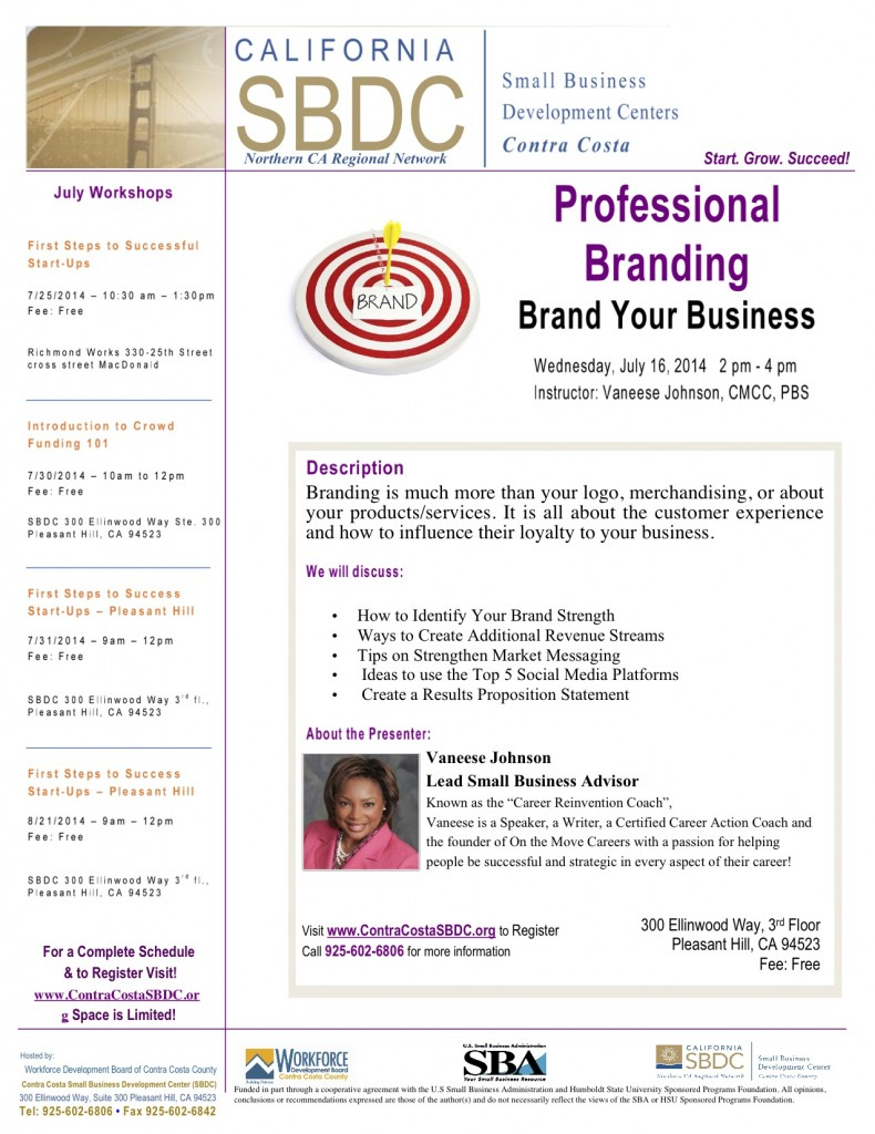 Professional Branding @ Pleasant Hill SBDC - 3rd Floor | Rochester | New York | United States