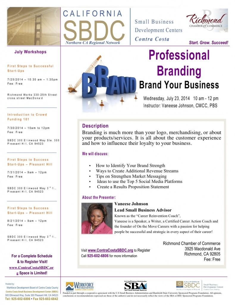 Professional Branding @ Richmond Chamber of Commerce | Richmond | California | United States