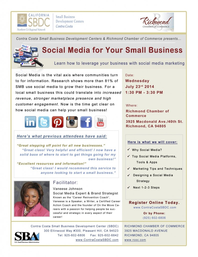 Social Media for Your Small Business @ Richmond Chamber of Commerce | Richmond | California | United States